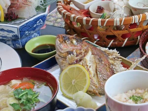 【基本会席/例】 身のしまった新鮮な魚を味わう