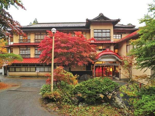 秋には鮮やかな紅葉が!