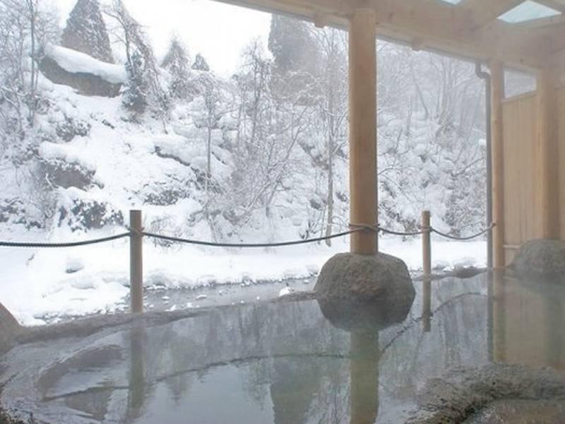 白糸の湯。冬には見事な雪景色