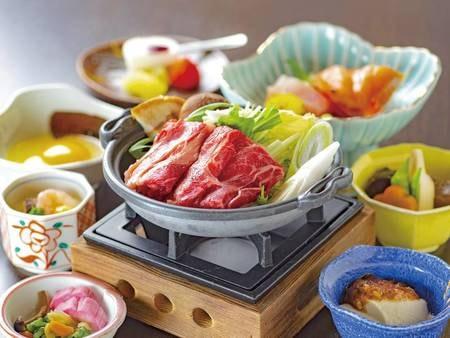 【選べる夕食/和食例】すき焼きをメインとした和食膳