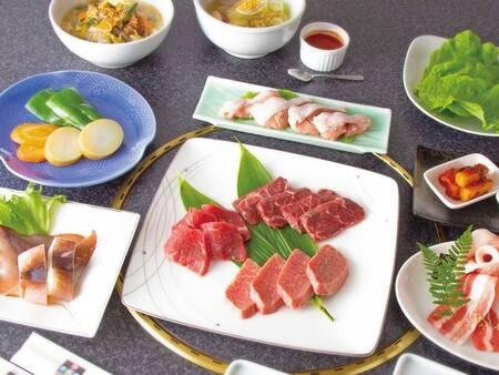 【選べる夕食】焼肉一例