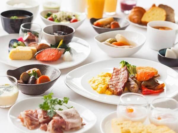 60種類以上の和洋朝食バイキング/例