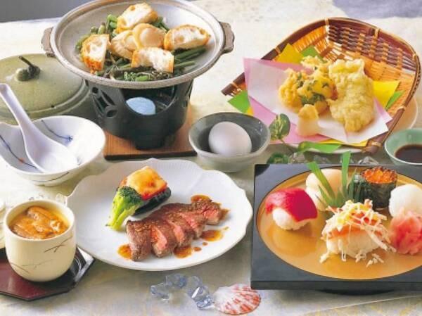 【握り寿司・天ぷら・季節の鍋付/例】