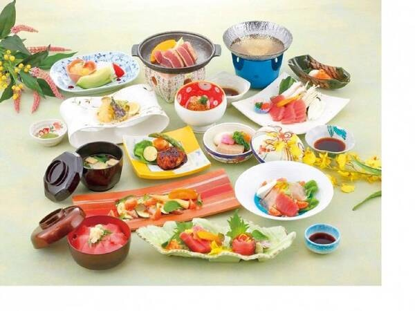 【味絵巻(鮪づくし)/例】※海鮮3種のお料理からお好きなものをお選び頂けるプラン