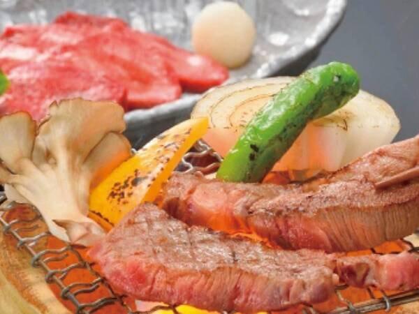 ※仙台黒毛和牛(こちらは網焼き画像です)プランは陶板焼きです