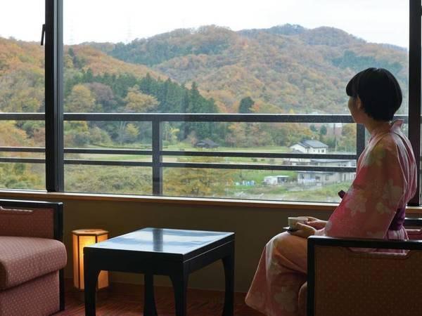 【客室眺望/イメージ】四季折々の自然を望む