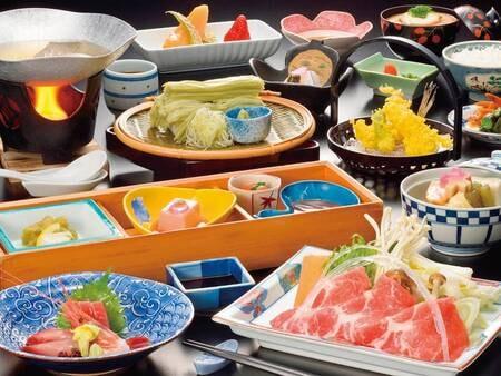 【高原リゾート満喫プラン/夕食例】牛タンや天ぷらを含む約10品和会席!