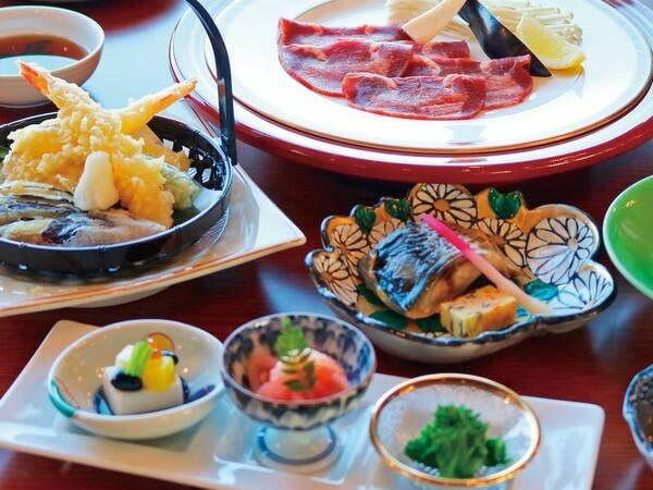 【ゆこ得】牛タン&金華サバ付創作膳/例 牛タンや天ぷらを含む約10品!