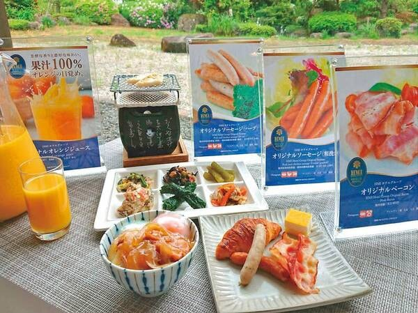 【朝食/例】バイキングまたは和食膳でご用意※どちらかは当日までわかりません