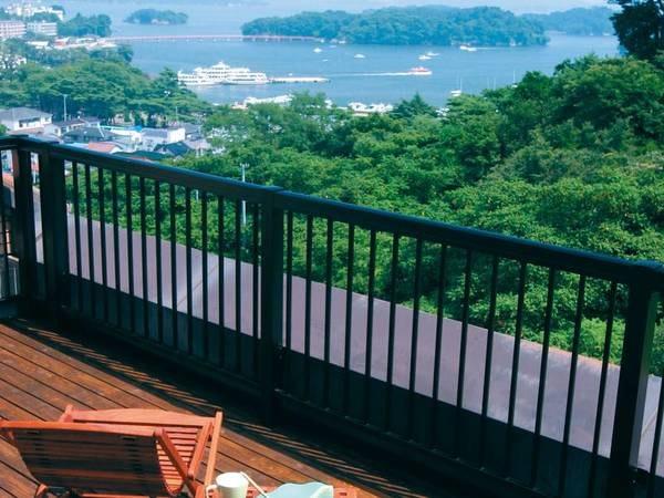 【館内】テラスから松島を一望