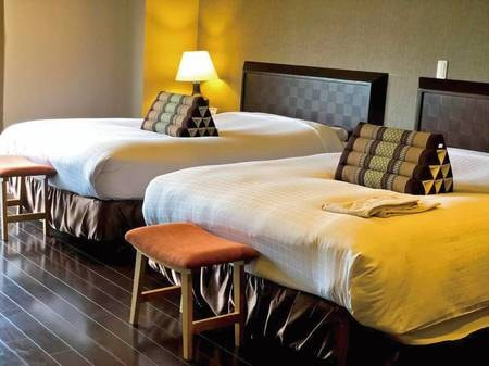 【アジアンワイドツイン/例】140㎝幅のベッドでご用意