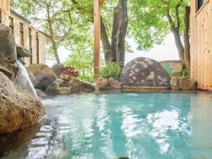 【貸切風呂「青根の湯」】青根の心地よい風と、源泉かけ流しの湯を堪能