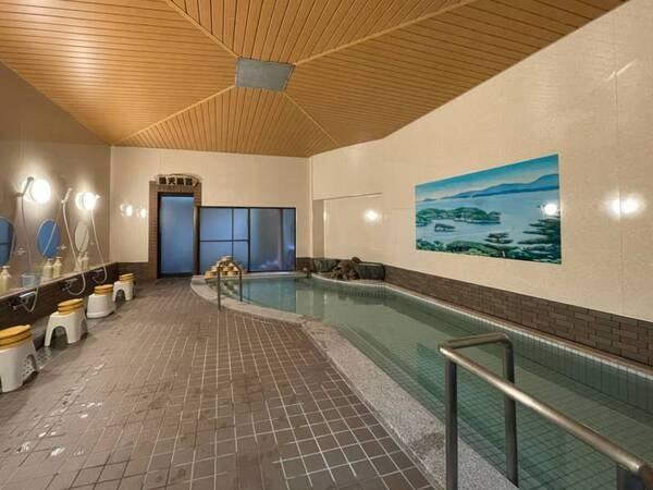 【大浴場(男湯)】レトロな雰囲気の大浴場