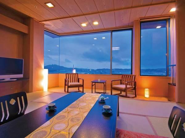 【気仙沼湾ビュー和室10畳/例】 気仙沼の海を一望