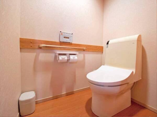 【トイレ/例】手すり付き
