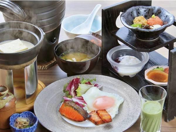 【朝食/例】一品一鉢を大切にした体に優しい朝食。ゆったりとした空間でお召し上がりください。
