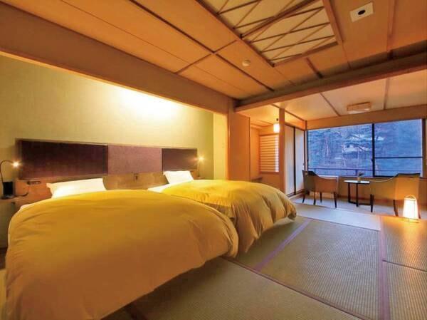 【和ツイン/例】6階以上確約でシモンズ製のベッドを完備