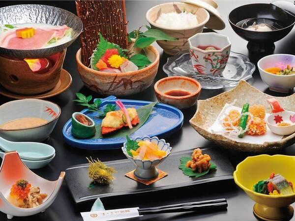 【お気軽会席プラン/例】季節の食材を使った和会席!