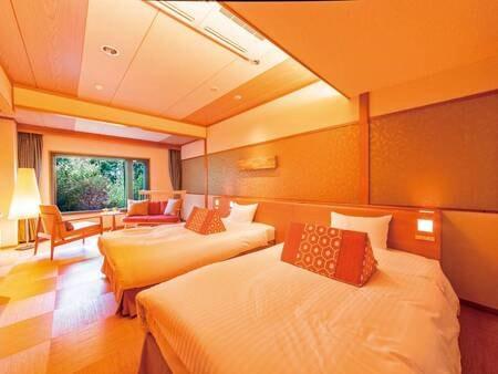 木もれびツイン一例 米シモンズ社製のベッドで上質な睡眠を