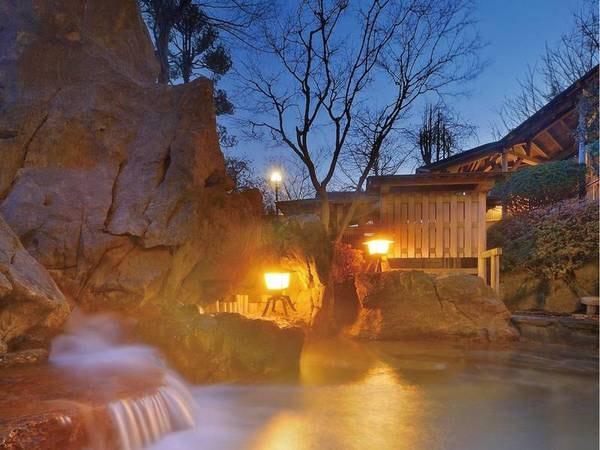 【露天風呂】地下1,800mから湧きだす源泉で旅の疲れを癒す