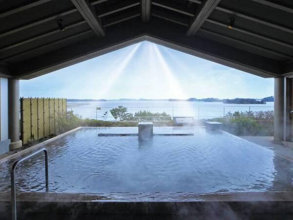 【松島温泉 松島一の坊】2018年12月よりオールインクルーシブスタイルに一新!日本三景の絶景を客室や最上階の露天風呂から望み、料理長厨房ビュッフェでは「あなたのためのひとさら」をお届けいたします