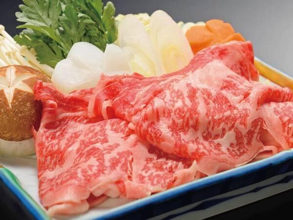 【国産牛&三元豚!選べるすき焼orしゃぶ/例】※国産牛のイメージ