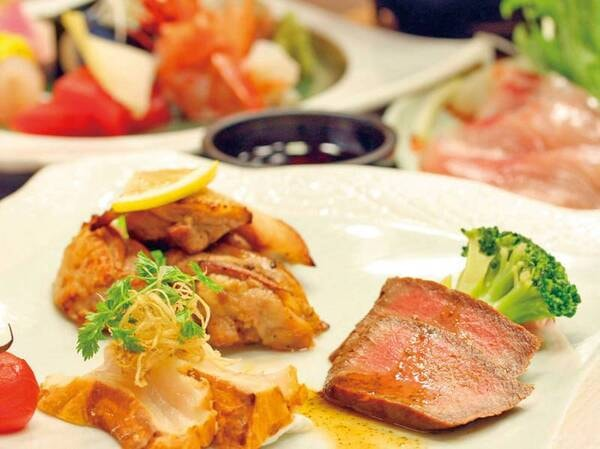 【夕食/例】秋田県内食材応援!秋田錦牛・比内地鶏・天然真鯛など