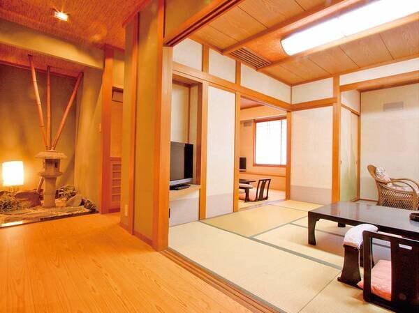 【客室/例】(禁煙)本館最上階7階広め和室6+10畳(B)