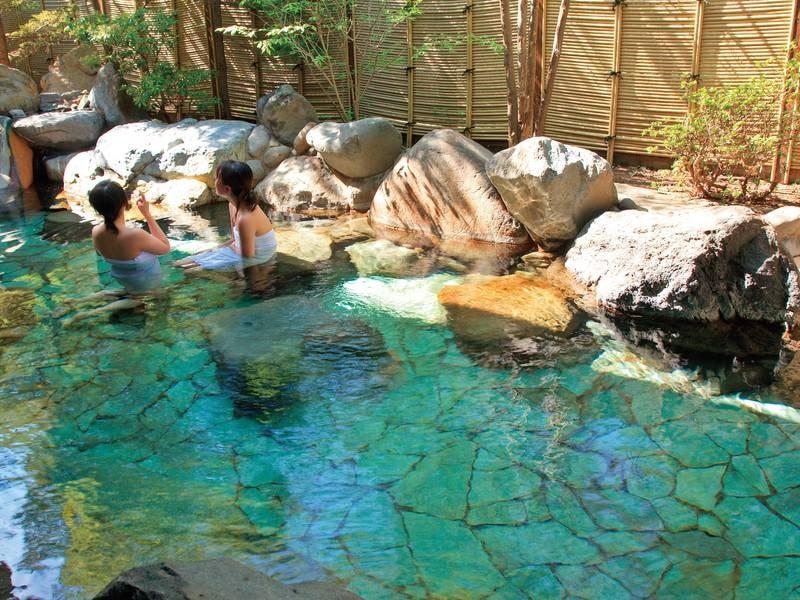 【長生の湯】広い露天風呂は気持ちがいい!ついつい長湯してしまう♪