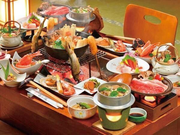 【囲炉裏で味わう郷土料理会席/例】囲炉裏を囲み味噌たんぽ串や郷土料理を楽しめる