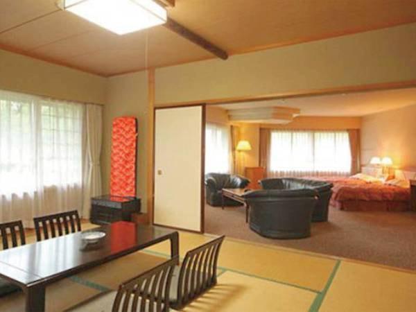 【特別和室/一例】安らぎと寛ぎのひと時が味わえる特別室。開放感に溢れたお部屋でお寛ぎ下さい