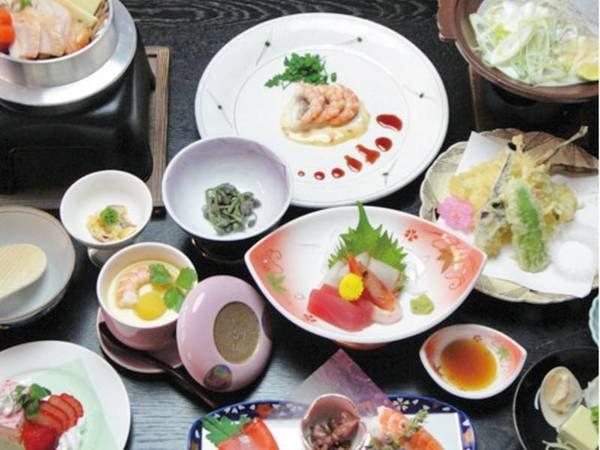 【旬の和会席・にしき膳/例】約13品のボリューム満点和食膳。自慢の味を思う存分召し上がる