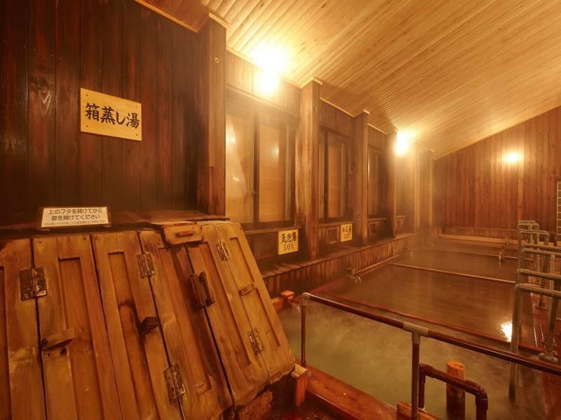 大浴場 全国的にも珍しい箱蒸し湯