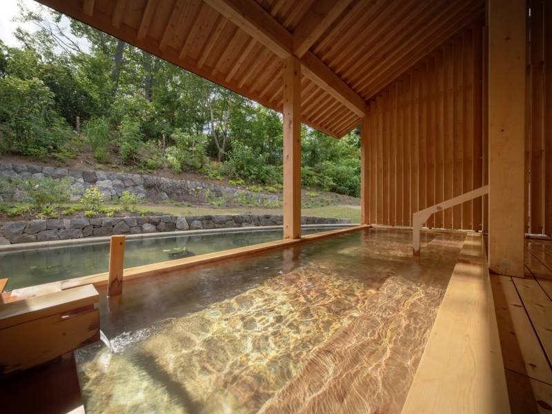 露天風呂 ぶなの森の風が爽やかな露天風呂