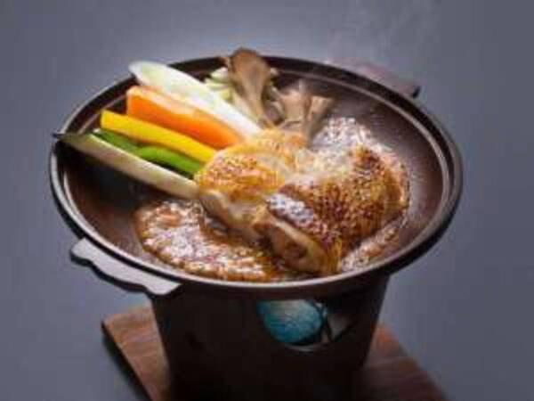比内地鶏と旬野菜の特製味噌だれ付/一例