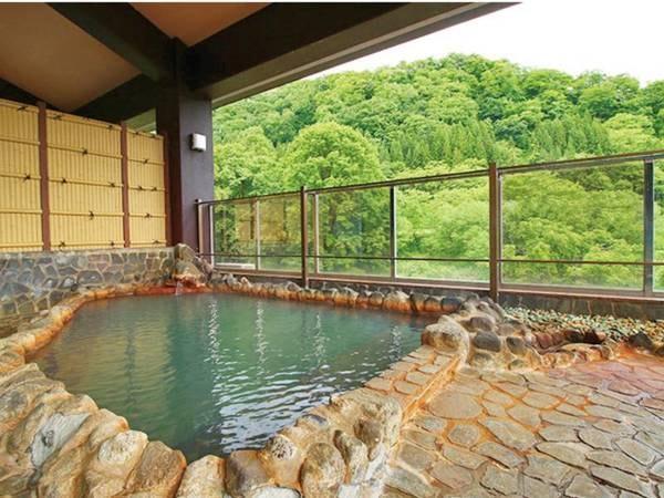 【露天風呂】天然かけ流しの温泉