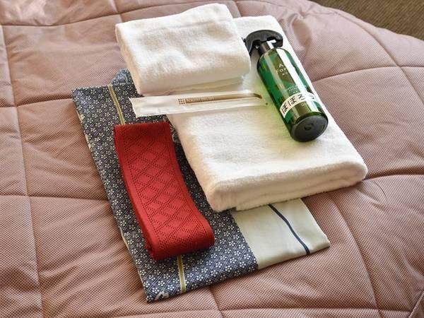 *アメニティ:お部屋設備(浴衣・タオル・歯ブラシ)