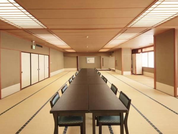 【ご宴会場】大小21を数えるご宴会場では、人数やご利用の用途に合わせ、お客様のご希望に添ったお部屋をお選びいただけます。