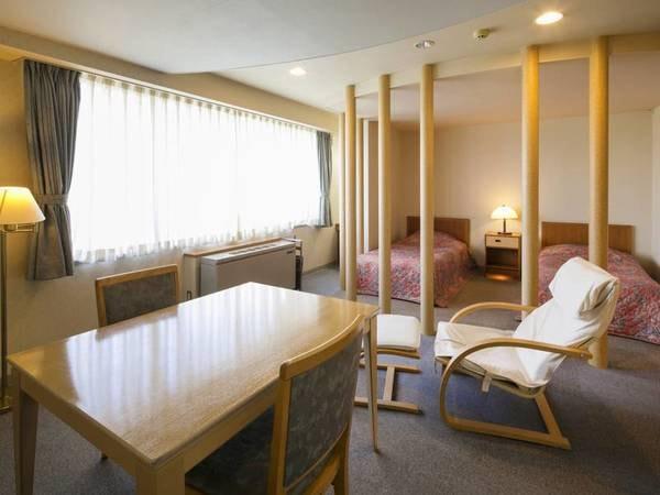 【本館 洋室ツイン/例】全室湖側・1~2名様でのご宿泊にオススメです!/禁煙タイプのお部屋となります/全室Wi−Fi完備!