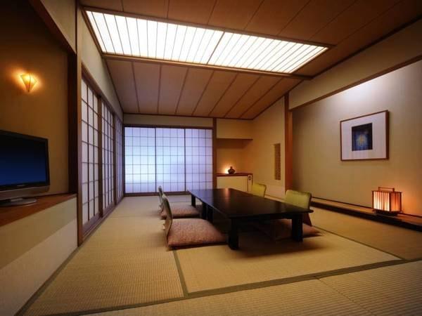 【秀翠館 和室/例】ワンランク上のゆったりとした和の空間。 秀翠館は大浴場から最も近い宿泊棟です。/禁煙タイプのお部屋となります/全室Wi−Fi完備!