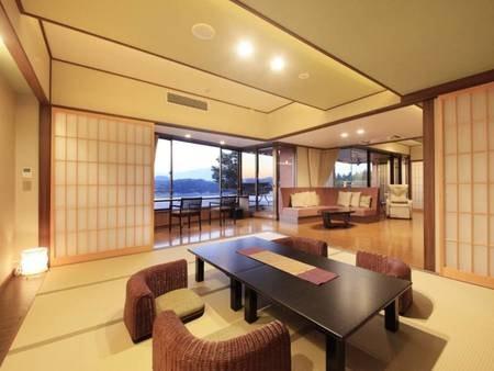 【<別邸うらら>デラックス 畳スペース/例】10畳のスペースもございますので、ゆったりとお過ごしいただけます。