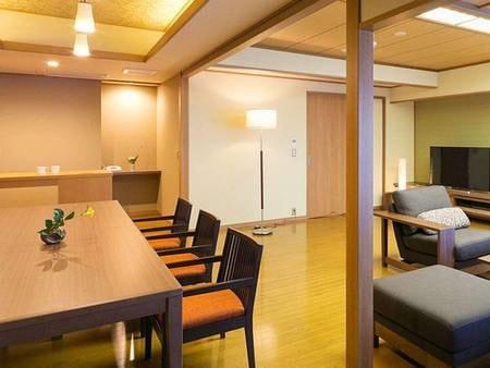 【<別邸うらら>『宙』 ダイニングルーム/例】パウダールームやマッサージチェアなどの寛ぎ空間も完備。