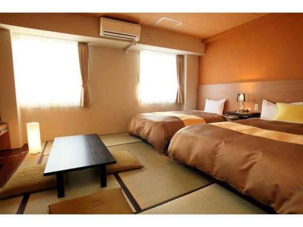 【禁煙】和洋室 (ベッド2台+布団2組)/一例