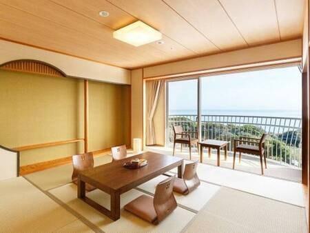 【朝日側】和室8畳(禁煙、トイレ付)
