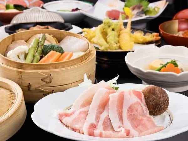 八幡平産ブランドポークの和食膳/一例