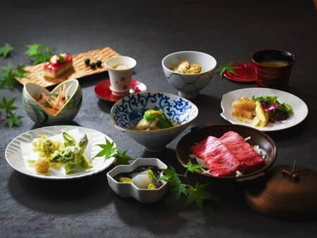 【夕食イメージ】郷土料理「雪花亭」コース一例 ※日程限定での営業