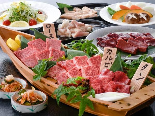 【焼肉会食プラン/例】宿お勧めの山形牛を焼肉で!焼肉ハウスまたは焼肉処でご用意
