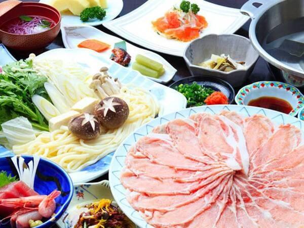 三元豚大鍋しゃぶ付和食膳/写真一例