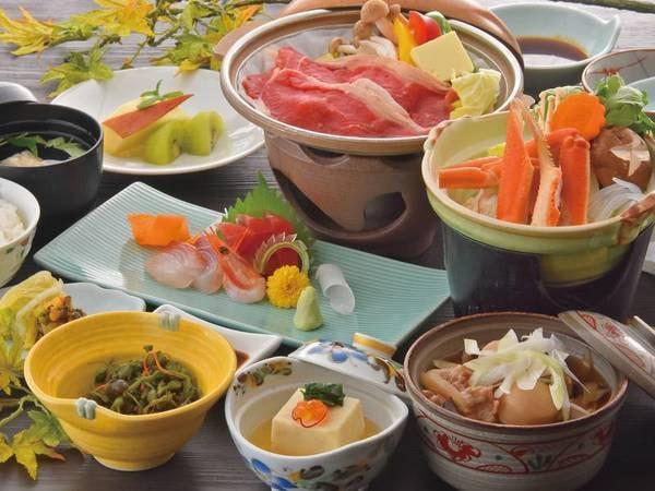 【特選牛陶板&かに鍋/例】お肉も蟹も楽しめるプラン