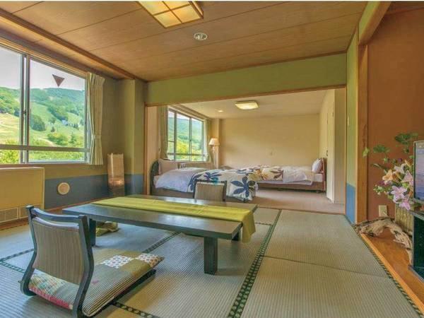 【和洋室(10畳+ベッドルーム)/例】追加料金でベッド付きのお部屋もご用意可